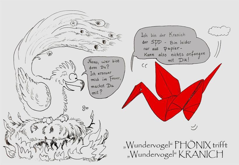 """Kleine Denksportaufgabe zur Kommunalwahl in Mönchengladbach: """"Wer mag wohl """"Wundervogel"""" PHÖNIX sein?"""""""