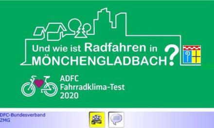 Nahmobilität • Teil XIII: Radfahren in Mönchengladbach beim ADFC-Fahrradklima-Test 2020 auf unterstem Level  • Masterplan Nahmobilität wirkungslos? • Warum AGFS-Mitgliedschaft?