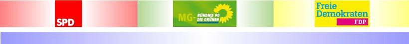 """Mönchengladbacher """"Ampel""""-Verhandlungsteams haben sich verständigt • Nun entscheiden die Mitglieder von SPD, B90/Die Grünen und FDP"""