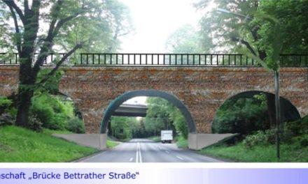Brücke Bettrather Straße: Auch Grundhafte Sanierung der historischen Brücke förderfähig • Wozu ein Wettbewerb?