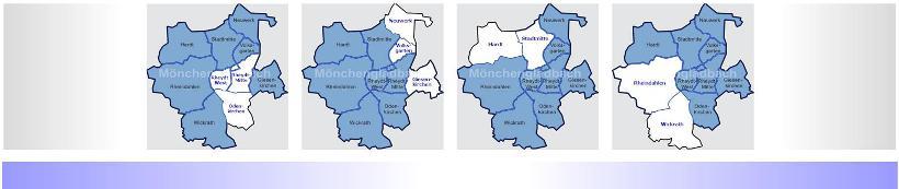 Ratszug zur Ratssitzung am 6. Oktober beginnt mit den Sitzungen der vier Bezirksvertretungen