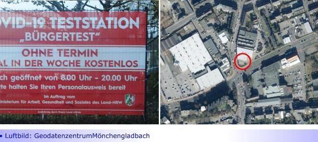 """Neues """"Bürger-Testzentrum"""" an der Korschenbroicher Straße eröffnet • Schnelltests ohne vorherige Terminvereinbarung • Bald auch in Bonnenbroich """"Drive-in-Tests"""" möglich"""