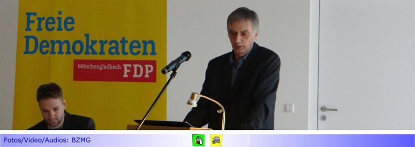 FDP Mönchengladbach wählt den Fachmann für Qualitätssicherung Stefan Dahlmanns zu ihrem Kandidaten für das Amt des Hauptverwaltungsbeamten • Wahlparteitag mit Grußworten von Barbara Gersmann (SPD) und Jochen Klenner (CDU)
