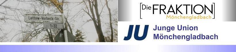 """Straßennamen • Ratsgruppe """"DIE FRAKTION Mönchengladbach"""" wirft JU (Junge Union) unwahre Behauptungen in Petionsbeschreibung vor"""