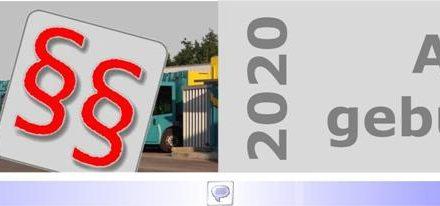 """Abfallgebühren 2020 • Teil I: Keine nennenswerten Veränderung für 2020 • Kostenreduzierung um 2,8 Mio. EURO aus fragwürdiger """"Rücklage"""" • Nur ein wahltaktischer Trick?"""
