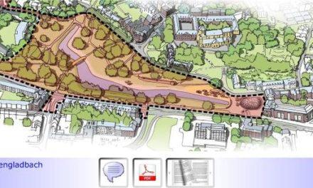 """Gero-Park • Teil I: Umgestaltungsplanung für den Geropark kommt voran • Statt bis zu 230 Pkw-Parkplätze & Festplatz demnächst Verdopplung der Weiherfläche • Konfliktpotenzial """"Eltern-Taxi""""?"""