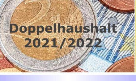Doppelhaushalt 2021/2022: Einwohner und Abgabepflichtige können Einwendungen erheben • Frist: 14.12.2020
