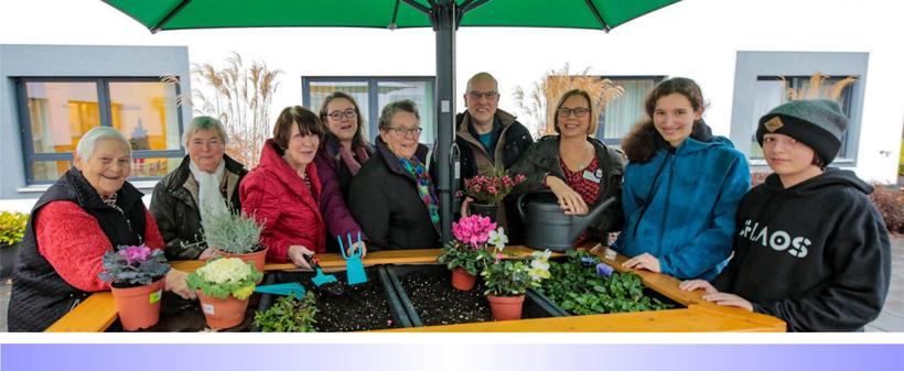 Schüler stiften Hochbeet für Altenheim Hardterbroich