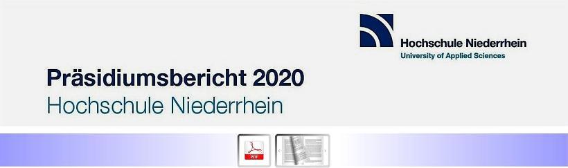 Hochschule Niederrhein veröffentlicht Präsidiumsbericht 2020