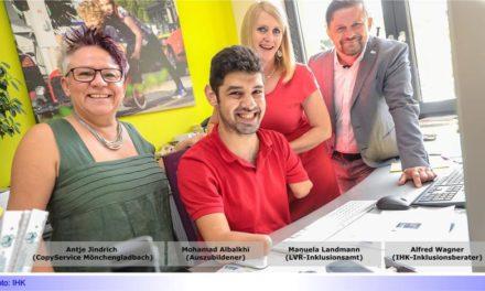 Praktizierte Inklusion beim CopyService an der Aachener Straße • IHK-Inklusionsberater Alfred Wagner unterstützt