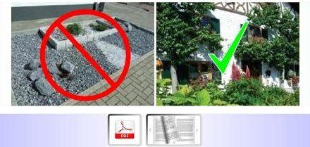 Vorgärten naturnah und farbenfroh statt Schotter • Nettetal mit Vorgartenwettbewerben und Vorgaben in Gestaltungssatzungen