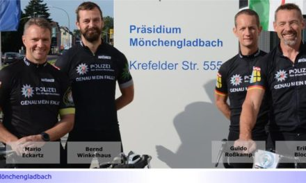 """700 km Radfahren nonstop: Mönchengladbacher Polizisten """"erstrampeln"""" Spenden für schwerstkranke Kinder"""