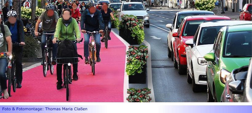 Bismarckstraße • Teil II: Neue Radwege an der Bismarckstraße kaum vor 2024 • Anlieger könnten zur Zahlung von Straßenausbaubeiträgen herangezogen werden