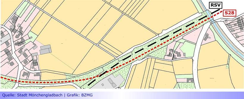 """S28 • Teil XIII: Radschnellweg mit Konfliktpotenzial an der Stadtgrenze zu Willich • Verwaltung stellt Vorentwurf zum Bebauungsplan vor • Mobilitätsausschuss noch """"außen vor"""""""