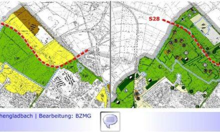 S28 • Teil XXXV: Bau der Westverlängerung S28 in Gefahr? • Landrat Dr. Coenen fordert Nachbesserung von Landschaftsplan • Neue Irritationen seitens Mönchengladbach?