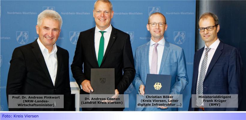 Fördergeld für den Breitband-Ausbau im Kreis Viersen: Landrat Dr. Coenen erhält Förderbescheide über 43 Millionen Euro von Bund und Land