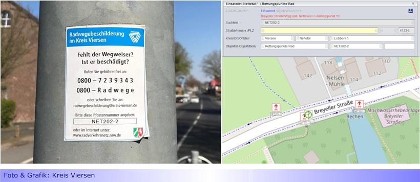 1.900 Rettungspunkte für Radfahrer und Wanderer • Leitstelle nutzt Rad-Wegweiser als Orientierungshilfe