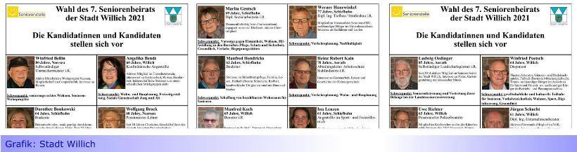 Wahl des Seniorenbeirats in Willich am 16. Juni 2021 • 24 Kandidaten stehen zur Wahl