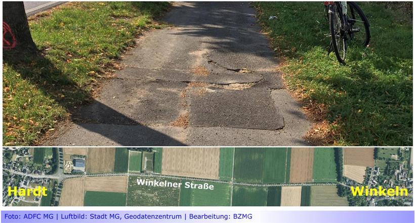 """Nahmobilität • Teil VI: Radweg an der Winkelner Straße soll """"Sandweg"""" werden • ADFC: """"mags 'mags' jetzt lieber dreckig"""""""